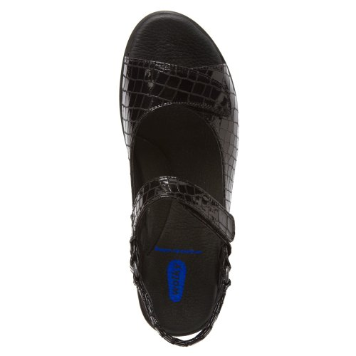 Wolky Vrouwen Pichu Sandaal Zwarte Croco