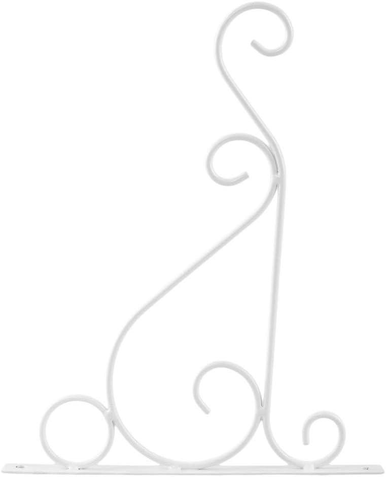 LUOXIN Supports muraux de Jardin en m/étal Blanc 1PC Design r/étro et Classique pour Balcon Maison Jardin int/érieur et ext/érieur