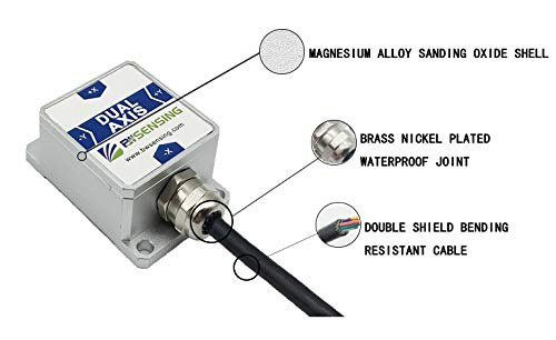 Bewis Dynamic Vertical Gyro Inclinometer BW-VG125 Tilt Angle Sensor with Dynamic Accuracy 2 °/Static Accuracy 0.1 ° and CAN Output by Bewis (Image #2)
