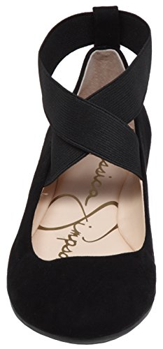 Jessica Women's Simpson Ballet Mandayss Flat Suede Black 8r8ZUxw5