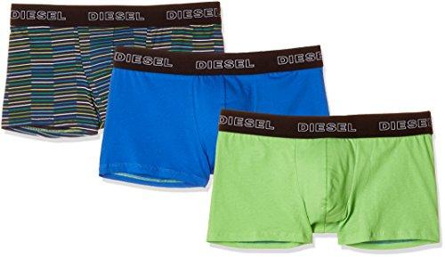 Diesel Striped Briefs - Diesel Men's UMBX-SHAWNTHREEPACK Boxer 3pack Stripes, Green/Blue, L