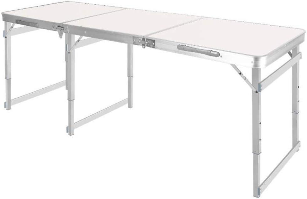 Alargue la mesa plegable de aluminio para exteriores de 70.8 pulg., La mesa móvil portátil para exteriores, la mesa plegable para barbacoas para acampar, la mesa de picnic portátil multifuncional para