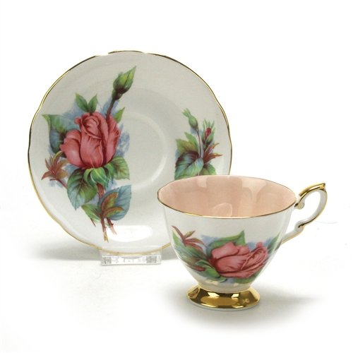 (Six World Famous Roses by Paragon, China Cup & Saucer )