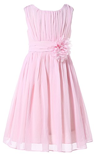 Bow Dream Little Girls Elegant Ruffle Chiffon Summer