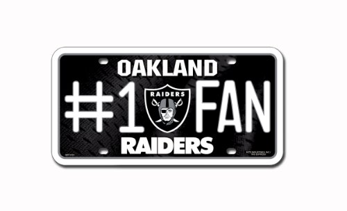 NFL Oakland Raiders #1 Fan Metal Auto (Oakland Raiders Shop)