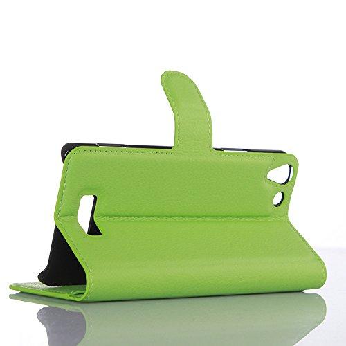 Funda WIKO Selfy 4G,Manyip Caja del teléfono del cuero,Protector de Pantalla de Slim Case Estilo Billetera con Ranuras para Tarjetas, Soporte Plegable, Cierre Magnético(JFC11-12) D