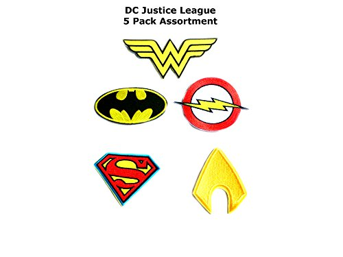 5 PCS Justice League Superheroes Theme DC Marvel Comics Cartoon Movie Films Cosplay DIY Decorative Embroidered Iron or Sew-on Patch By US Family Brand