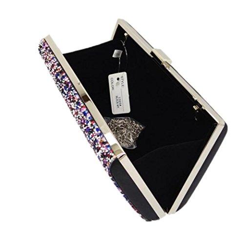 BlackColor Dames Pince WenL en Soirée Sac Diamant Forme De à De xOtgnvXTt