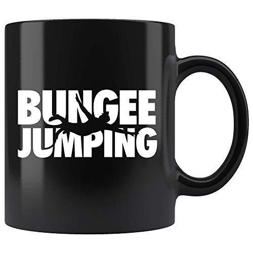 Bungee Jumping Mug 11oz in Black - Best Bungee Jumper Gift
