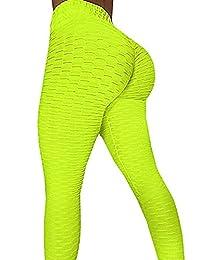 SEASUM Women's High Waist Leggings Ruched Butt Shapewear Tights Yoga Pants