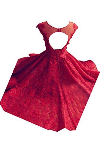 Royalblau amp;Tuell Modern Partykleid Damen Promkleid Kurz Festkleid Spitze Linie Abendkleid A Rundkragen Ivydressing Ip7gqxSw6S