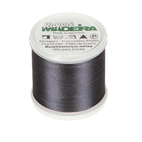 Tacony Corporation Madeira Rayon Thread Size 40 200 Meters-Gun Metal Grey