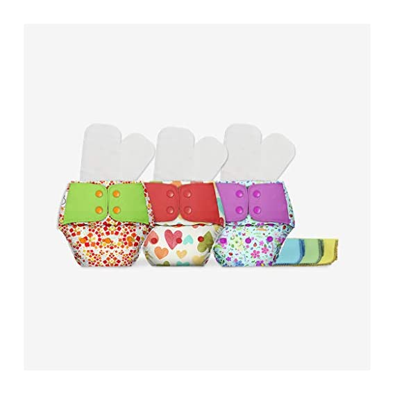 Superbottoms Plus UNO + Free 2 Fleece Liners Diapers Shells + 3 Dry Feel Organic Cotton Soakers + 3 Organic Cotton