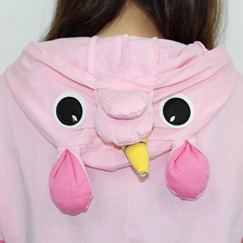 Pijamas de una pieza de Animales - BienBien Unicornio Pijama Kigurumi con Capucha para Adultos Ropa de Dormir disfraz de Carnaval y Halloween Cosplay Rosa