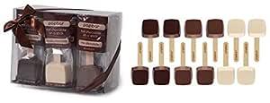 Hot Chocolate Sticks - 12 Pack Classic Gift Box - Dark, Milk, Vanilla White Chocolate