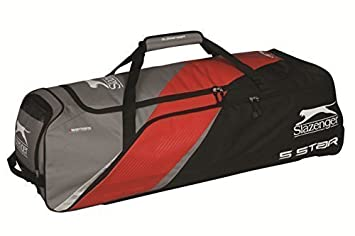 71d51f1e3a Image Unavailable. Image not available for. Colour: Slazenger V Series 5  Star Wheelie Holdall Cricket Sports Luggage Team Kit Bag