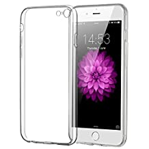 iPhone 6/6S Plus Case, ELZO Transparent Crystal Clear Soft TPU Back Protector Cover Shock-Absorption Bumper and Anti-Scratch Slim Flexible Shell for Apple iPhone 6/6S Plus