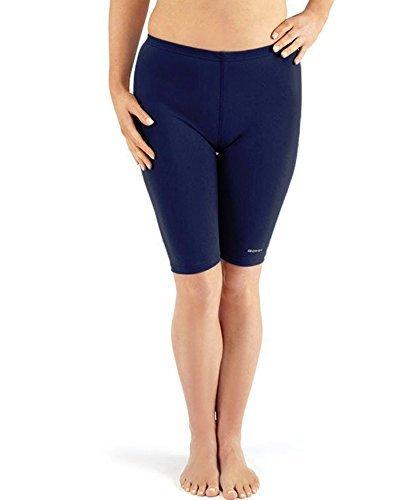 Bohn Swimwear Ladies Swim Jammer Shorts (US 16, Navy Blue)