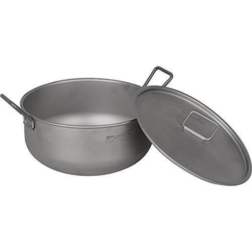 Lightweight Titanium Pot 1.8L Outdoor Cooking Camp
