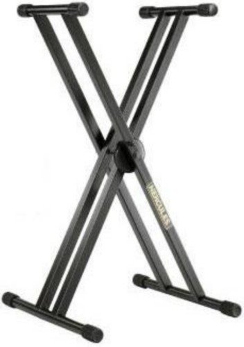 Amazon.com: SOPORTE TECLADO - Hercules (KS120B) Tipo X Doble (5 Alturas Diferentes): Musical Instruments