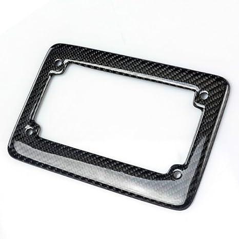 1PC ModifyStreet Real Carbon Fiber Motorcycle License Plate Frame for Motorcycle//Bobber//Chopper//Curiser//Sport Bike//Touring//Trike