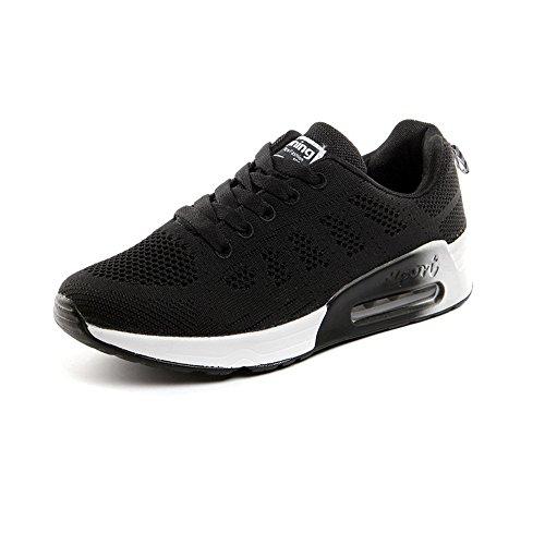 Filets De Sport 1 35 Basses Courses Run Baskets Pamray Noir Chaussures Blanc air Noir Femmes Athlétique Marche Gris Bleu 44 Cushion EFqzZ0