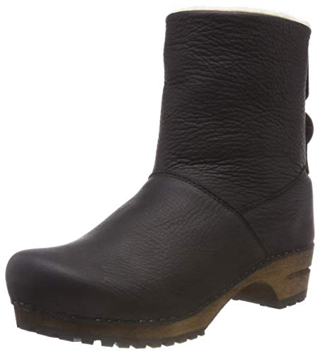 Boot Bottes Wood Noir Black Sanita Souples Silkan 2 Femme Low dtItgw