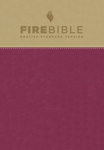 Firebible: English Standard Version, Tan/Berry Flexisoft Leather