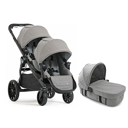 Baby Jogger 2017 City Select LUX Double Stroller WITH LUX Bassinet (Slate) by Baby Jogger