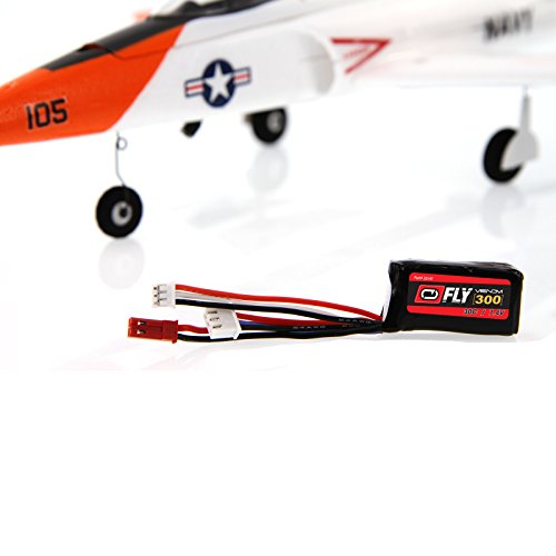 Amazon.com: Venom Fly 30C 2S 300mAh 7.4V LiPo Battery with JST and E-flite PH Plug x2 Pack Combo - Compare to E-flite EFLB2802S30: Toys & Games