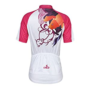 Koson-Man Women's Quick-Dry Short Sleeve Cycling Jersey 3D Padded Short Set Devil Style (Color RoseRed Size XL)