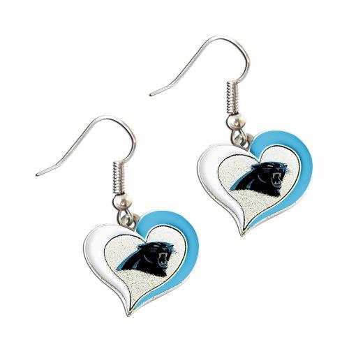 NFL Carolina Panthers Swirl Heart Earrings ()