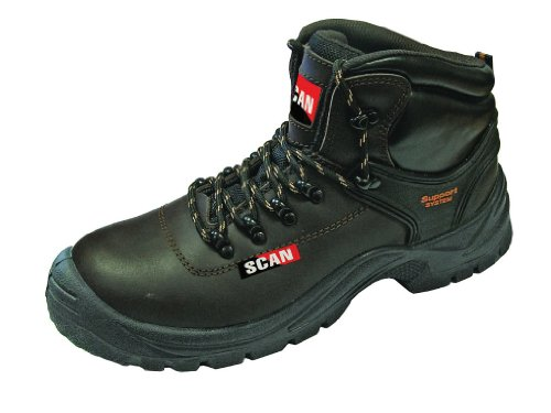 Scan Lynx Brown Safety Boots S1P - Size 6 - 39