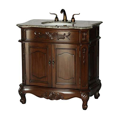 34-Inch Antique Style Single Sink Bathroom Vanity Model 2883-34 - Style Antique Vanity Sink