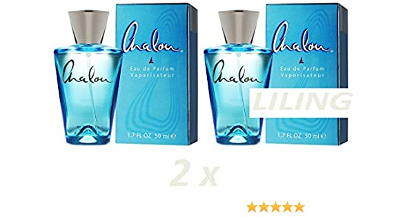 Amazon.com: CHALOU New Two Bottles Eau De Parfume Blue 50ml Parfum Women Like LIDL: Home & Kitchen
