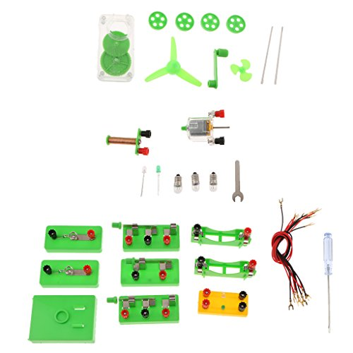 Fityle Science Physics Experiment Discovery Kits - Series Parallel Electromagnet Circuits Experiments Power Generator (Electromagnet Set Science)
