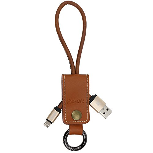 Price comparison product image Micord REMAX iPhone Charger Cable Cool Design Keychain Apple Lightning to USB Cable 1ft Short Data Cable for iPhone 6S,  6S Plus,  iPad (Brown)