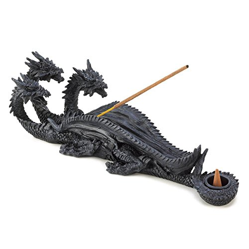 - Incense Burners, Resin Three Headed Dragon Incense Burner Statue (Sold by Case, Pack of 12)