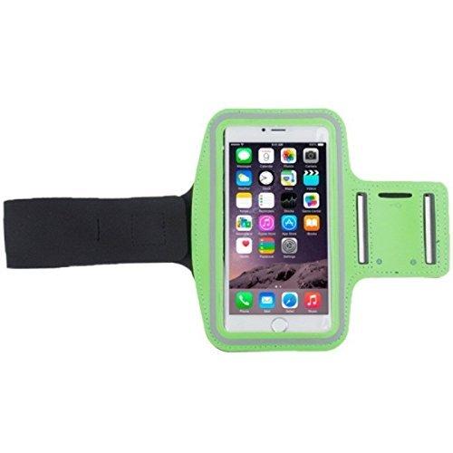 König-Shop Tasche Armband Sportarmband mit Kopfhörerloch und Schlüsselfach verschiedene Modelle / verschiedene Farben, Farbe:Grün, Hersteller wählen:Alcatel onetouch, Modell wählen:Idol 2