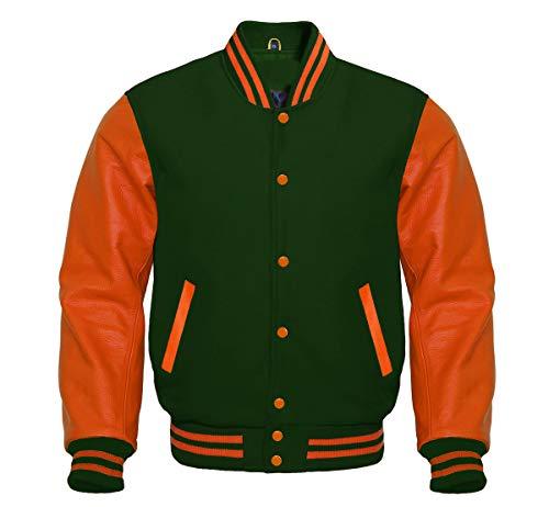 Green Wool Varsity Jacket - 8