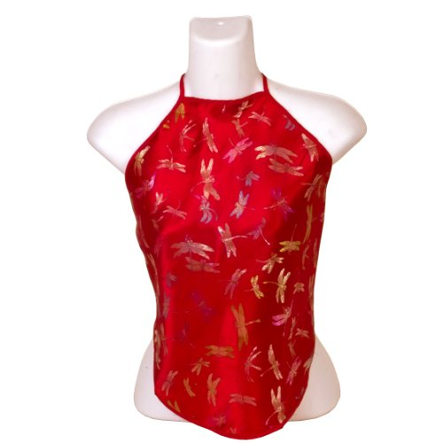 Chinese Dragonfly Brocade Halter Tops