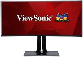 "ViewSonic VP3881 38"" Frameless IPS UltraWide QHD+ 2300R Curved Monitor HDR10, HDMI, DisplayPort, USB Type C"