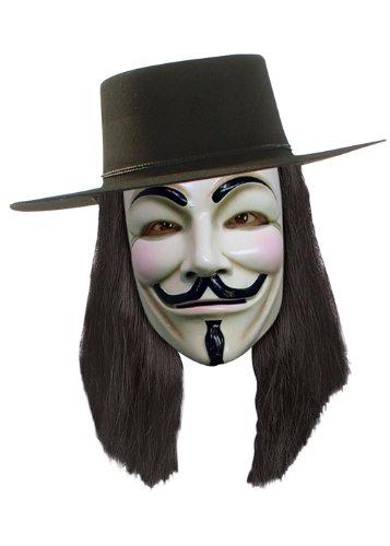 V For Vendetta Fancy Dress Wig (Fancy Dress Superheroes)