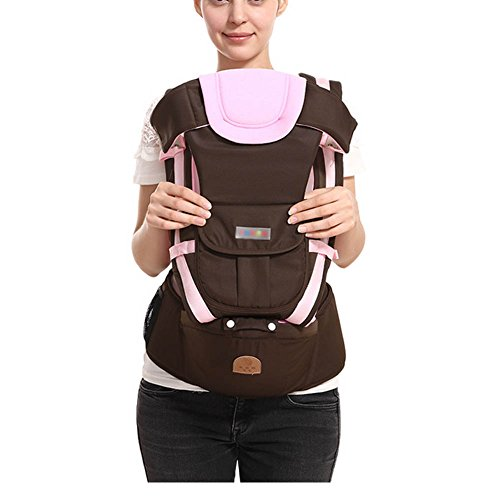 Baby Carrier Multifunctional Backpack Sling (Pink) - 4