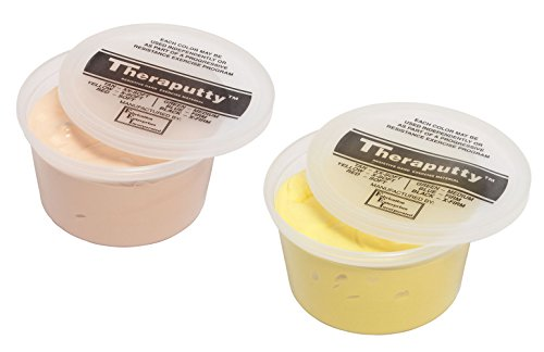 TheraPutty Standard Exercise Putty Tan - XX-Soft, Yellow - X-soft 1 LB Each - Bundle by Theraputty