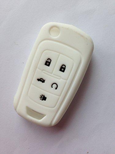 (TCKEY Silicone Cover Holder Key Jacket for Chevrolet Cruze Equinox Impala Sonic Malibu Camaro OHT01060512 V2T01060512 13500222 13501913 13574862)