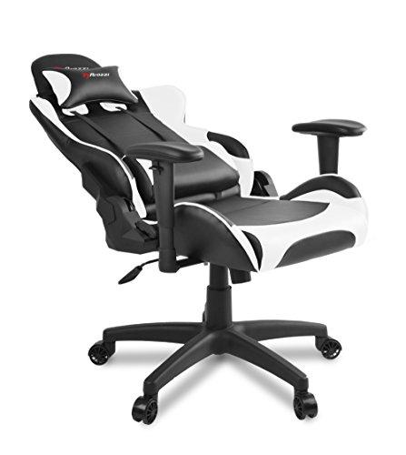 Arozzi verona v2 sedia da gaming nero bianco 50 x 55 x for Sedie design verona