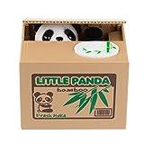 Lemonbest Cute Stealing Coin Cat Money Box Piggy Bank, Panda