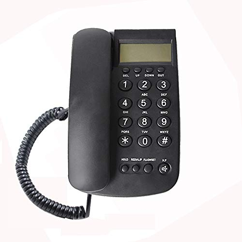 TelPal Corded Telephone with Caller ID Display, Speakerphone, Flash & Redial, Hands Free Basic Battery-Free Desktop Landline Caller ID Phone Set for Home Office Business