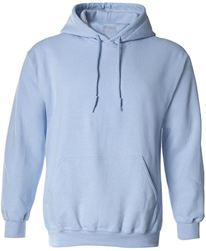 white and light blue hoodie men - 4